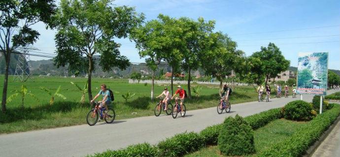 Biking in Hoa Lu